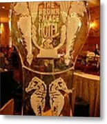 Ice Sculpture At Ellyngtons Sunday Brunch  Metal Print