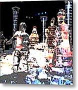Ice Sculptured Nativity Scene Posterized Metal Print