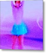 Ice Skater Abstract Metal Print