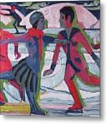 Ice Skaters  Metal Print
