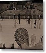 Ice Skating At Rockefeller Center In The Early Days Metal Print