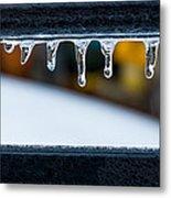 Ice Teeth On Colors Metal Print