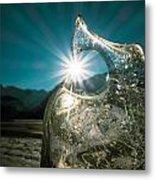 Ice With Sunburst Metal Print