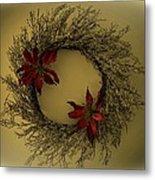 Ice Wreath Metal Print