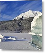 Iceberg And Mount Mcginnis Metal Print