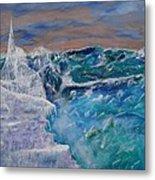 Iceberg Awaits The Titanic Metal Print