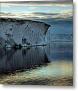 Iceberg In The Ross Sea At Night Metal Print