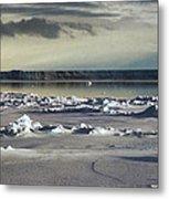 Iceberg In The Ross Sea Night Metal Print