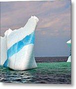 Iceberg Off The Coast Of Newfoundland Metal Print
