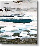 Icebergs In August Glacier International Peace Park Metal Print