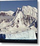 Icebergs Northern Tip Of The Antarctic Metal Print