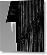 Iced Barn Metal Print