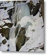 Iced Rocks Metal Print