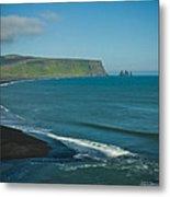 Icelandic Beach Metal Print