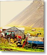 come see me at the Icelandic engine park Metal Print