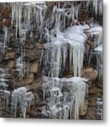 Icicle Cliffs Metal Print