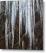Icicles On A Cliff Metal Print
