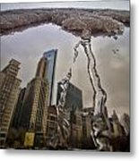 Icicles On Chicago's Bean Metal Print