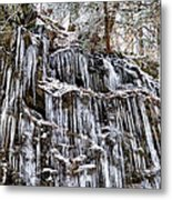 Icicles On Forbidden Drive Metal Print