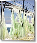 Icicles On The Catwalk Metal Print