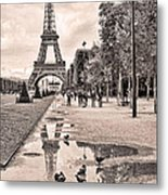 Icon Reflected Sepia Metal Print