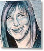 Iconic Barbra Streisand Metal Print