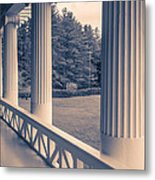 Iconic Columns On An Estate Metal Print