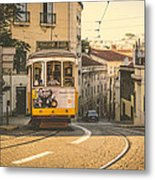 Iconic Lisbon Streetcar No. 28 Iv Metal Print