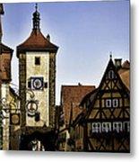 Iconic Rothenburg Metal Print