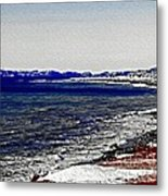 Icy Cold Seascape Digital Painting Metal Print