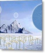 Icy Desert Metal Print