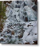 Icy Flow Of Water Metal Print