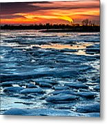 Icy Inferno Metal Print