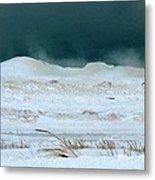 Icy Lake Michigan Metal Print