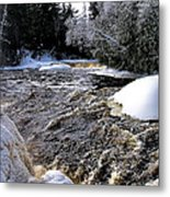 Icy Mist At Tahquamenon Metal Print