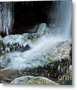 Icy Patapsco Waterfall 2 Metal Print