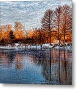 Icy Reflections At Sunrise - Lake Ontario Impressions Metal Print