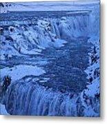 Icy River Metal Print