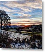Icy Sunset Metal Print