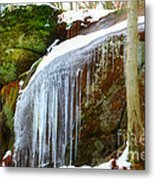 Icy Waterfall  Metal Print
