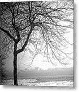 Icy Waters Of Lake Michigan Metal Print