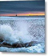 Icy Waves Metal Print