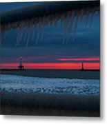Icy Windows Metal Print