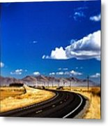 Idaho Road Titl Shift Metal Print