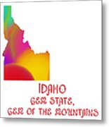 Idaho State Map Collection 2 Metal Print
