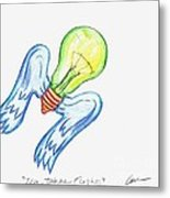Idea Takes Flight Metal Print by Feile Case