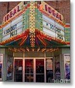 Ideal Theater In Clare Michigan Metal Print