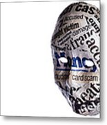 Identity Fraud Concept Mask Metal Print