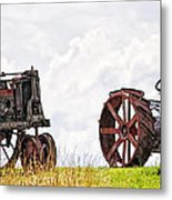Idle Fordson Tractor On The Hill Metal Print