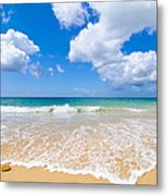 Idyllic Summer Beach Algarve Portugal Metal Print
